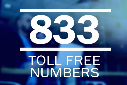 Photo of 833 toll free number.