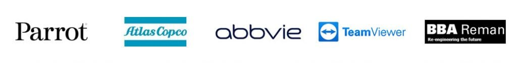 parrot atlas copco abbvie team viewer bba reman logos