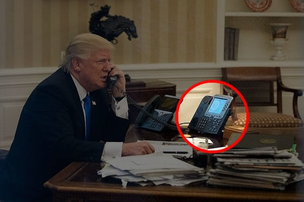 trump oval office phone