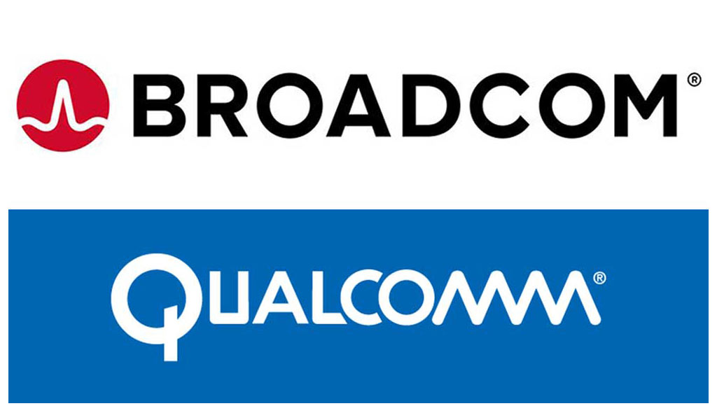 broadcom qualcomm logos