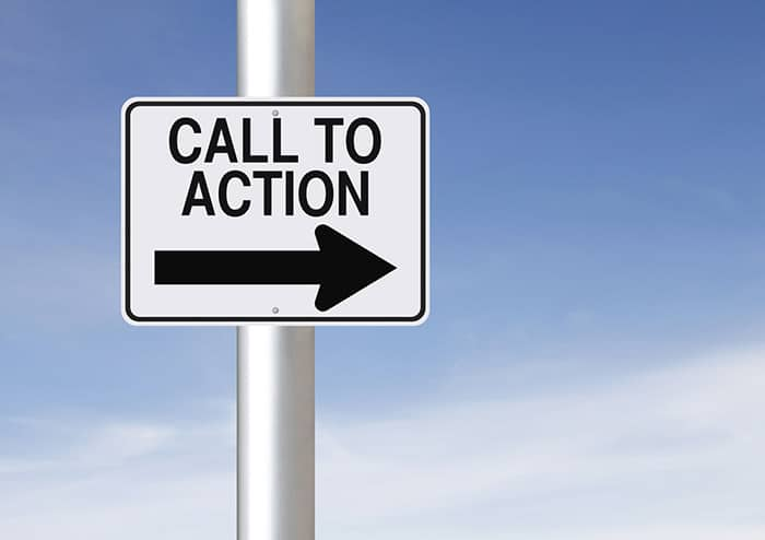 call to action sign