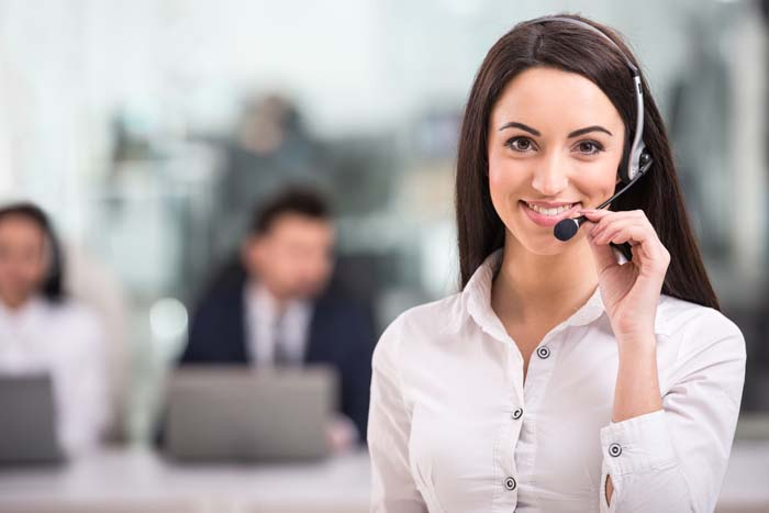 Managing A Team Woman on Phone