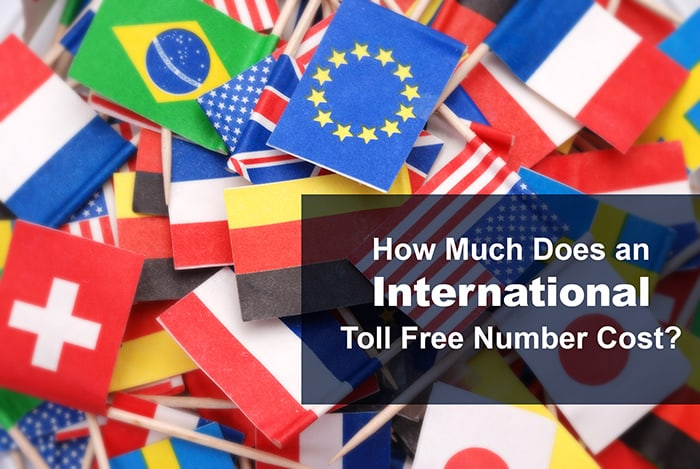 How much does an international toll free number cost?