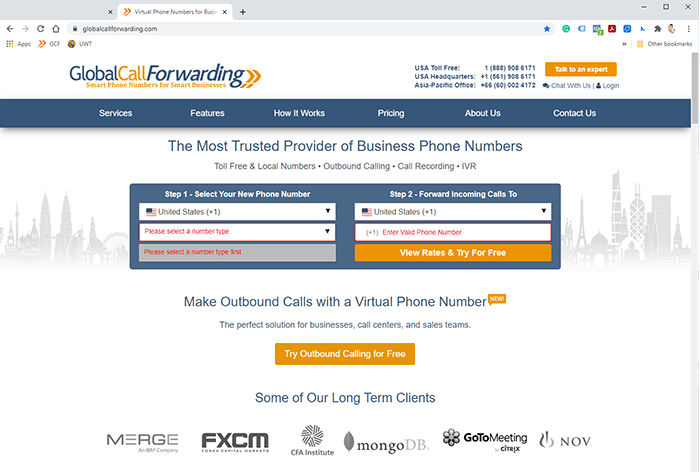 global call forwarding home